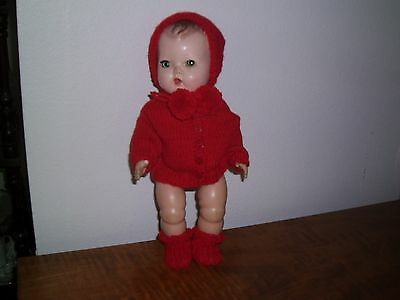 """Beautiful  Hand Knit By Me For 11"""" Tiny Tears Betsy Wetsy No Doll"""