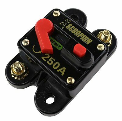 250 Amp Circuit Breaker Manual Reset Replaced RV Inverter Overload Fuse Car Home
