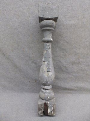 1 Antique Turned Wood Spindle Porch Baluster Thick Old Vtg Architectural 536-17R