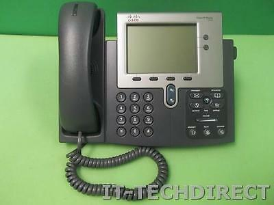 Cisco CP-7942G 7942G VOIP PoE Office Business IP Phone w/ Stand & Handset