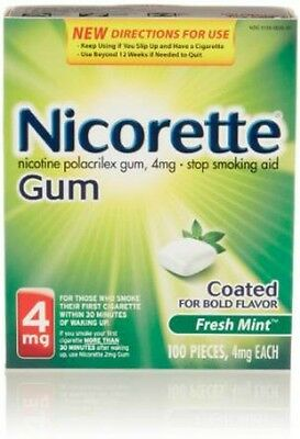 Nicorette Gum 4 mg Fresh Mint - Stop Smoking - 100 pieces - NEW STOCK!