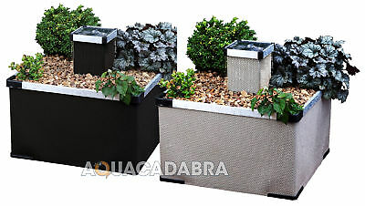 Blagdon Liberty Fountain Planters Sand Black Aluminium Flower Garden Patio