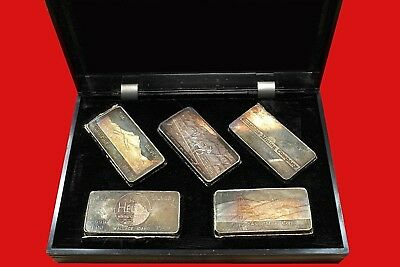 Proof Set 5 - 3oz Fine Silver Bars 1969 WH Foster Walla Walla Wash Serial No1058
