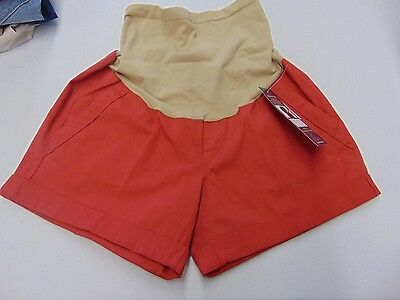Womens Size Small Oh Baby Motherhood Maternity Red Summer Shorts New #534