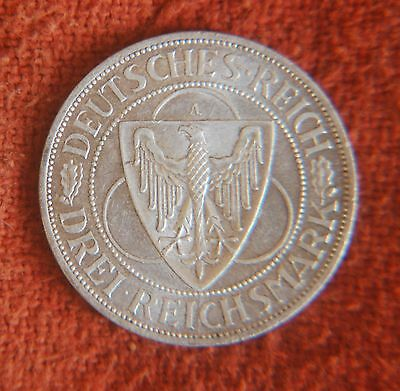 1930 A Germany Uncirculated 3 Mark German Eagle Coin