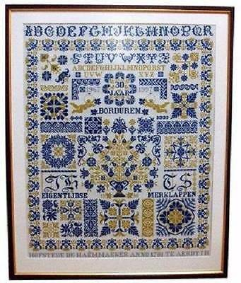 30 Years Of Embroidery Sampler Cross Stitch CHART-333x422 Stitches-Jan Houtman D