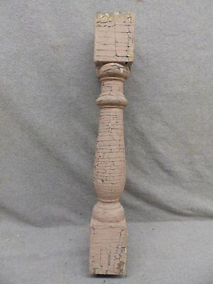 1 Antique Turned Wood Spindle Porch Baluster Thick Old Vtg Architectural 544-17R