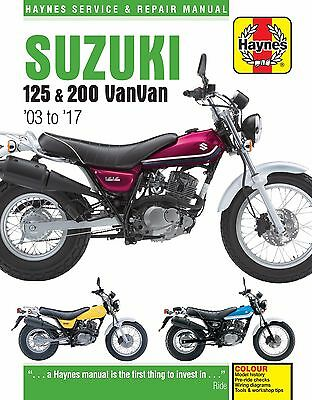 Suzuki RV125 & RV200 VanVan 2003-2016 Haynes Manual 6355 NEW