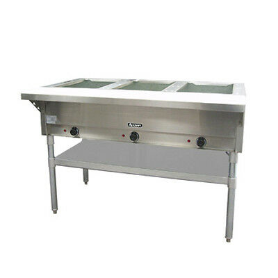 Adcraft ST-120/3 3-Well Steam Table With polycarbonate Cutting Board