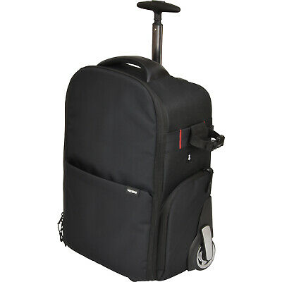Vivitar Series 1 Trolley DSLR Camera Backpack Case with Wheels Black