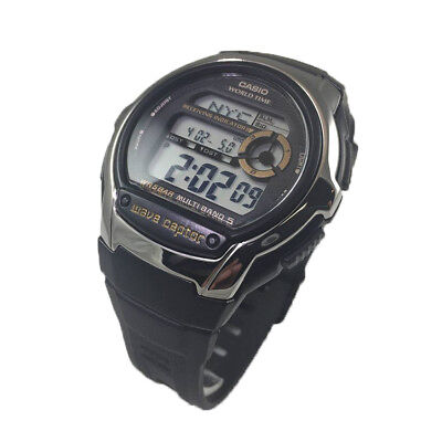 Casio Men's Digital Waveceptor Atomic Sports Black Resin Watch WVM60-9AV