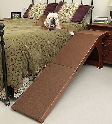 Solvit Pet Dog Wood Bedside Ramp Model 62399 for pets unwilling to use stairs