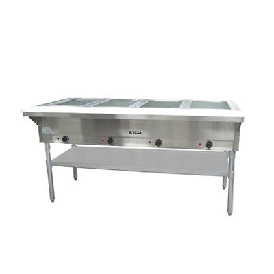 Adcraft ST-240/4 4-Well Steam Table With polycarbonate Cutting Board
