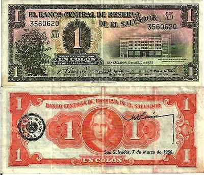 El Salvador 1 COLON 1955 - Pick 90a TTB (VF)