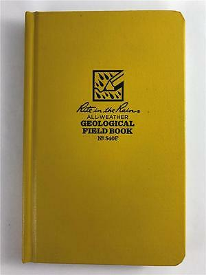 NEW Rite in the Rain All Weather Geological Field Book 540F Yellow 7 1/2 X 4 3/4