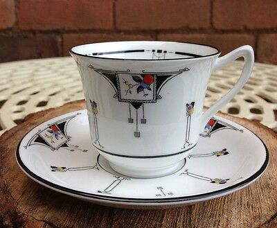 Art Deco Shelley Pattern 11568 China Tea Cup and Saucer (Set of 6 available)