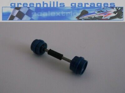 Greenhills Scalextric Ford Escort XR3i Front Axle & Wheels Blue Used P2349