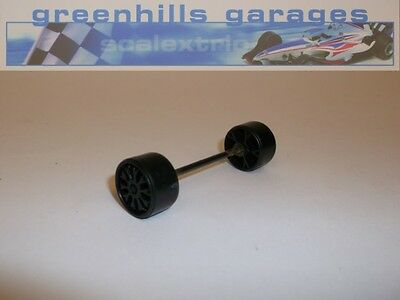 Greenhills Scalextric Opel / Vauxhall Calibra Black Front Axle & Wheels – Use...
