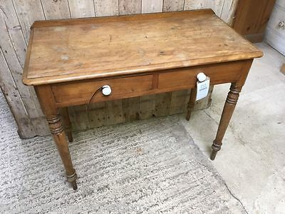 """Reclaimed Victorian Mahogany Side Table With Two Drawers 36"""" Wide"""