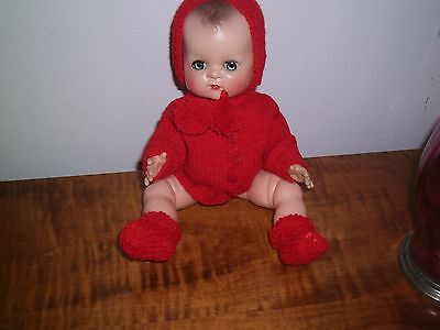 """Beautiful 3 Piece Wool Set  Hand Knit By Me For 11""""  Betsy Wetsy Or Tt No Doll"""