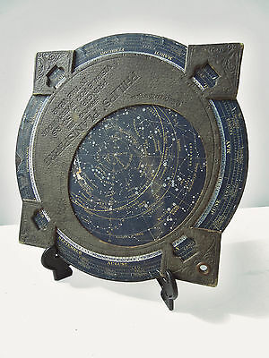 Large 10in Antique Astronomy Philips Planet Star Planisphere 1900s