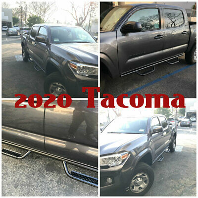 08-19 For Toyota Tacoma Double Cab Off-Road Hoop Side Steps Running Boards Bars