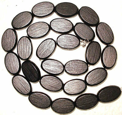 25 - 15x10mm FLAT OVAL wood wooden beads - High Quality
