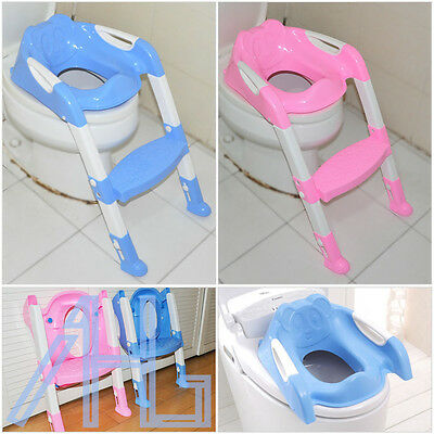 Baby Potty Toilet Trainer Ladder Training Seat Step Kids Toddler Child Blue/Pink