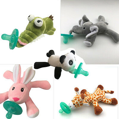Baby Silicone Pacifiers With Plush Toy Giraffe Nipple Soother BPA Free QW