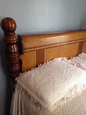Art Deco Antique Vintage Wood Inlay Bedroom Set