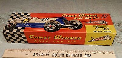 NEAT Old WWII Pre COMET Airplane Wood Bullet Racer Car Model Box Only 25 Cent