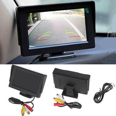4.3Inch TFT LCD Car Rearview Monitor for VCD DVD GPS Rear View Camera UK