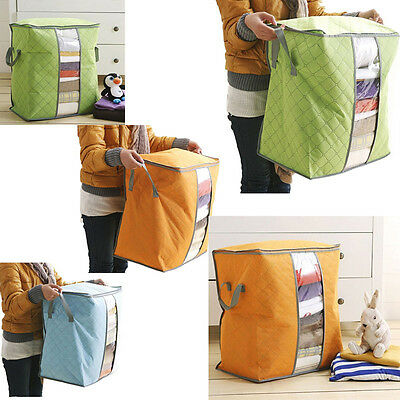 Large Portable Storage Bags Non Woven Underbed Box Organizer Pouch Storage