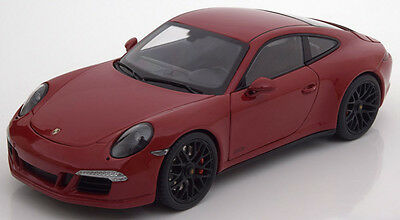 Schuco 2015 Porsche 911 991 Carrera GTS Coupe Red Metallic 1/18 Scale New!