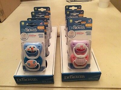 Dr Brown's PreVent 6-12 Months 2 Pack Pacifier BPA Free