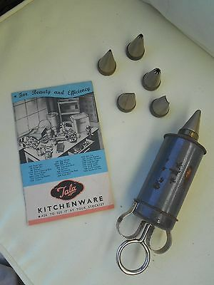 VINTAGE TALA ICING / CAKE DECORATING SET with Instructions & 6 Nozzles