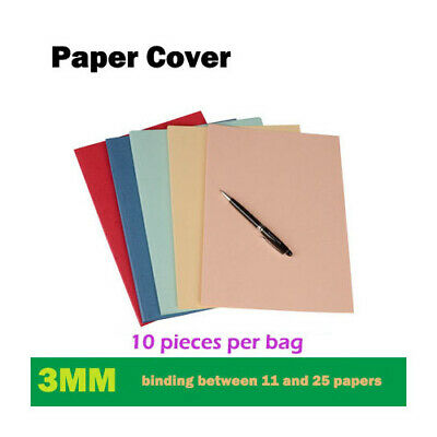 A4 Thermal Binding Hard Paper Cover+Paper Glue (2mm to 36mm thickness) X 10 pcs