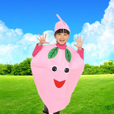Novelty Kids Boys Girls Juicy Peach Suit for Children's Day Party Costume