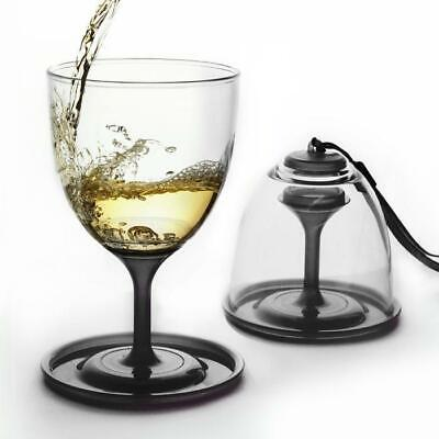 Portable Wine Glasses - Set of 2 | Picnic BBQ Travel Glass Cup Compact 300mL
