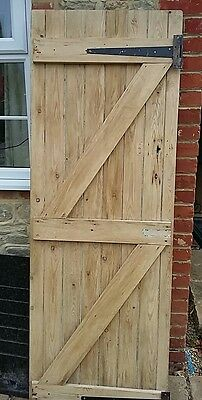 Reclaimed Old Stripped Pine Ledge & Brace Internal Door
