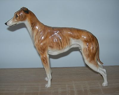 "Rare Royal Doulton Hn1066 Medium Sized Brindle Greyhound 1931-55, 6"" High"