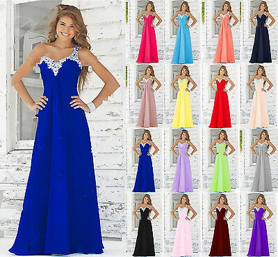 New Chiffon Formal Evening Party Ball Prom Gown dress Bridesmaid Dress Size 6-20