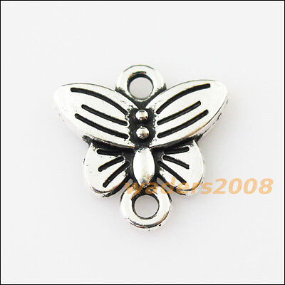 15 New Animal Tiny Butterfly Tibetan Silver Tone Charms Pendants Connectors 14mm