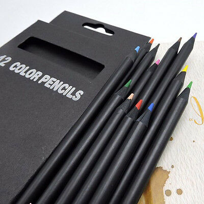 3.0mm Colour Charcoal Sketching Pencils Drawing Set of School Artist 12 Colour