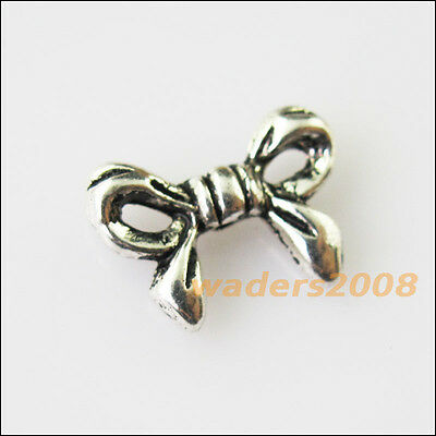 15 New Animal Butterfly Bow Charms Tibetan Silver Tone Spacer Beads 10x13.5mm