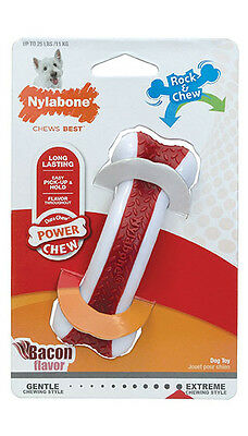 New Nylabone Rock and Chew Bacon Flavor Extreme Power Chew Dog Toy Regular Size