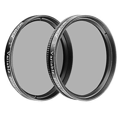 "Neewer 2PCs 2"" Variable Polarizing Filters Optical Glass for Telescopes"