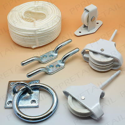 PULLEY SYSTEM ACCESSORIES Trap Door Attic Loft Hatch Kit Counter Weight / Rope++