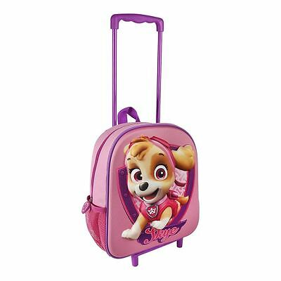 Children Paw Patrol 3D Effect Face 'Skye' Pink Trolley Bag Carry On Luggage