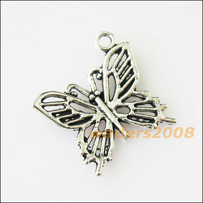 10 New Lovely Animal Butterfly Tibetan Silver Tone Charms Pendants 19.5mm